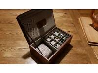 Jacob Jones cufflink and watch box