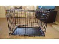 Medium dog crate as new