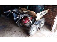 petrol powerd wheel barrow 13hp good reliable machine just no use no more