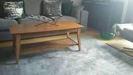 Walnut retro style coffee table
