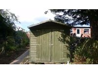 Green garden shed for sale