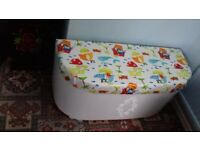 Toy storage box and seat