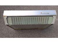 60cm wide kitchen cooker extractor hood S/Steel with glass visor