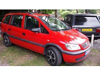 Vauxhall Zafira 1.6 petrol ,lpg fitted excellent condition