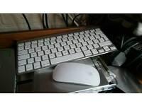 Apple wireless mouse & keyboard