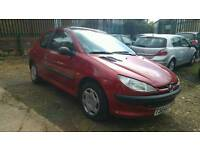 Peugeot 206 1.4 LX 3dr (electric sunroof) 38k Warranted Mileage. Mot till next year.