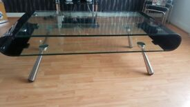 Glass table black