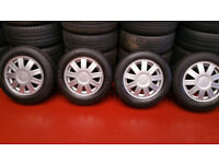 Ford Genuine 14 alloy wheels + 4 x tyres 175 65 14