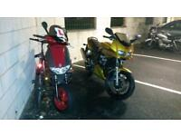 Swap both for something reg as 125 gilera runner/fazer 600
