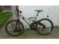 "Raleigh freeride Mountain Bike, 19"" frame, 21 gears, full suspension"