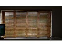 "Wooden Venetian Blind - Light Oak Colour - 34"" wide"