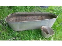 Old tin bath, ideal to use as a planter