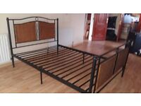 Black metal Double bed in very good condition. delivery is available if required.