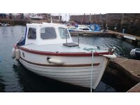 GULL 22 , 2 BERTH MOTORBOAT, SAAB DIESEL, GREAT FOR FISHING, POTTING £5500