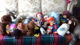 Car Boot sale: Bag of soft toys (25 plus).