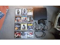 PS3 Slim 120gb with controller and 13 games