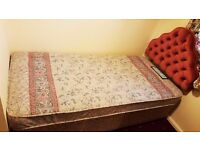 Standard 3ft single bed divan including headboard