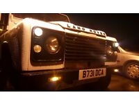 Land rover defender with mot drive away