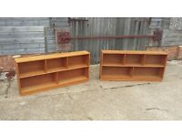 Pair of Stripped Retro Book Shelves Bookcase. Can Split