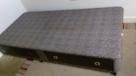 Free Single bed Base with drawers