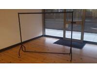 large black clothes rail