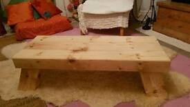 Handmade larch coffee table