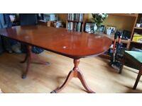 Large Mahogany Pedestal Dining Table