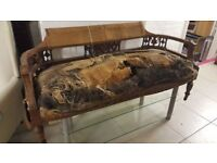 Beautiful Ornately Carved Antique Sofa For Project