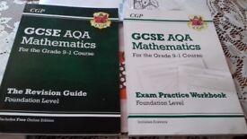 Maths foundation books x 2 (AQA)