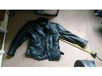 Retro motorcycle leather jacket