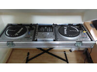 Vestax PDX 2000x2 with mixer and carry coffin