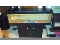 4ft x 1ft vivarium + cabinet + t8 controller + accessories
