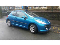 2007(07)PEUGEOT 207 1.6 HDi SPORT MET BLUE,NEW MOT,VERY LOW MILES,£30 TAX,GREAT VALUE