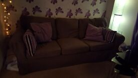 Sofas ikea extorp brown covers 2and3 seater £100.00 for both buyer uift