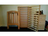 Cot with mattress and accessories