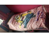 Girls heart single bed with mattress