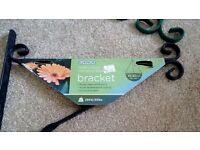 Three Heavy Duty Hanging basket Brackets - All New