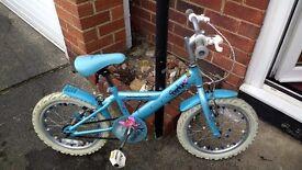 "Girl's Sparkle bike. 16"" Age 4-8"