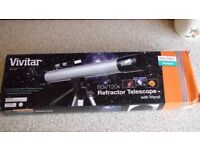 Vivitar 60x/120x Refractor Telescope w/ Tripod