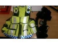 Ex police vest and belt