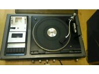 Vinyl Player and Cassette Recorder