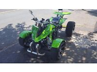 Road Legal Quad Bike with MOT need some TLC prior new MOT (would consider some car in part exchange)