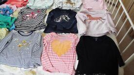 CHILDREN'S CLOTHING ITEMS - GIRL'S 5 - 6 - 20 TOPS, 7 LEGGINGS, 3 SHORTS