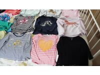 CHILDREN'S CLOTHING ITEMS - GIRL'S AGE 5-6/7 YEARS OLD, - 20 TOPS, 7 LEGGINGS, 3 SHORTS