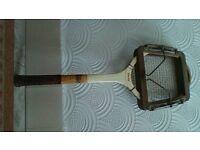 Vintage tennis racquet.