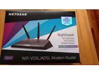 Netgear Nighthawk D7000 AC1900 WiFi Vdsl / adsl Modem Router