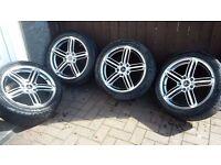 "17"" Audi RS6 replica wheels shadow chrome"