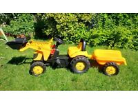 Rolly Toys JCB Tractor with frontloader and trailer