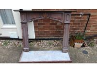 Fireplace surround and marble effect hearth - FREE