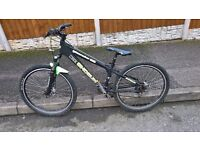 downhill jump mtb mountain bike cycle disc brakes suspenions 13 inch frame